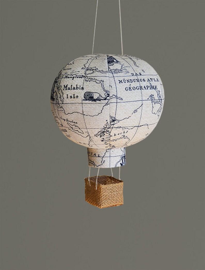 Travel Nursery Decor Hot Air Balloon Nursery Decor Baby image 0