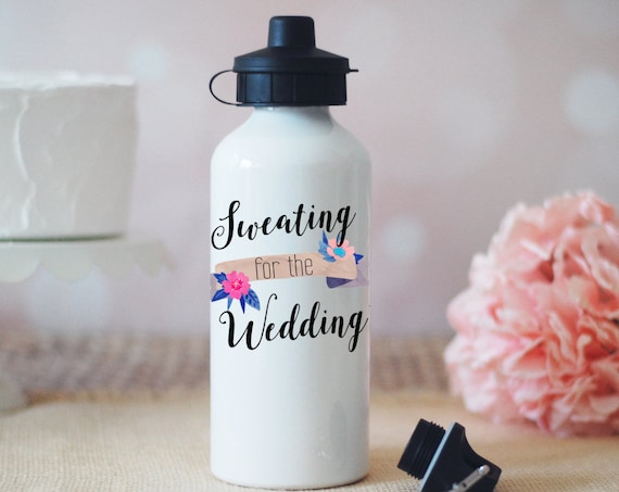 Sweating for the Wedding Water Bottle