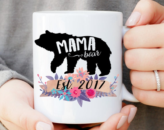 Mama Bear Mug, Baby Shower Mug, Gift for Mom, Baby Announcement, Baby Shower Gift, Mama Bear Papa Bear Mug Set, Momma Bear Mug, Custom Mug