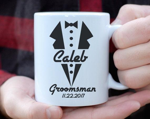 Personalized Groomsman Tuxedo Mug