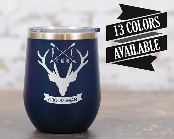 Personalized Groomsmen Wine Tumblers