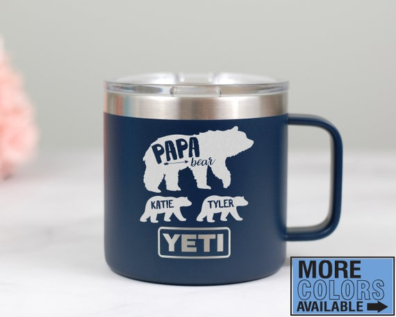Papa Bear Insulated Mug, Yeti Mug, Papa Bear Mug, Personalized Dad Gift, Gift For Dad, Father's Day Gift Idea, Cute Dad Mug, Papa Bear Cubs