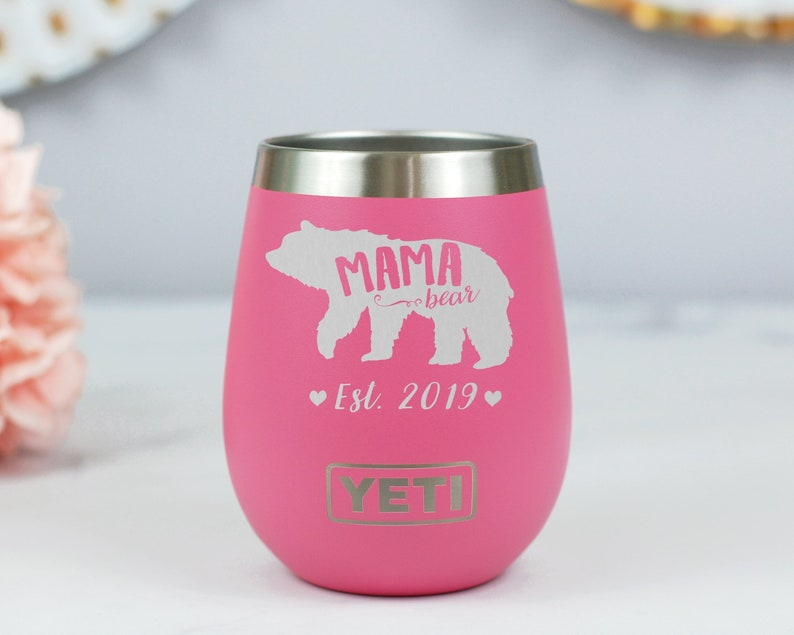 30ca1aacdba Mama Bear Yeti Wine Tumbler Engraved Wine Tumbler For Mom image 0 ...