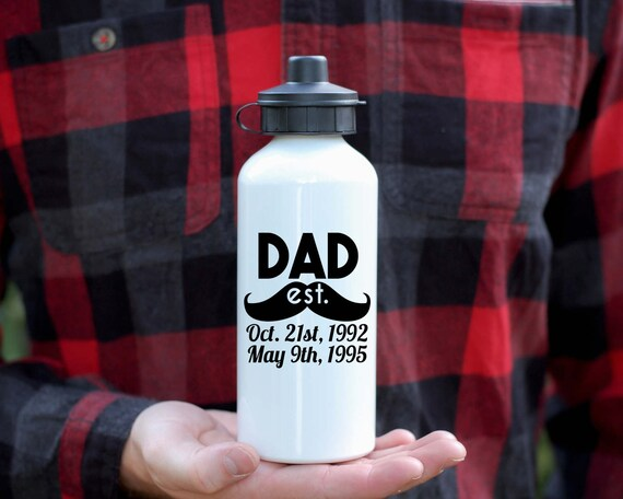 Personalized Dad Water Bottle, Father's Dad Gift, Gift For Dad, Cusdtom Fathers Dad, Gift For Dad, New Dad Gift, Baby Shower Gift For Dad