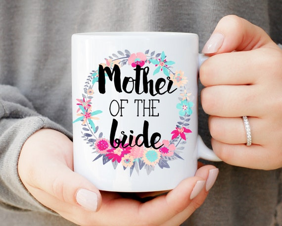 Mother of the Bride Wreath Mug