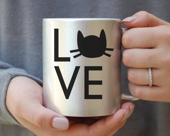 Silver Metallic Cat Mug, Cat Mug, Crazy Cat Lady Mug, Gift for Cat Lover, Gift For Cat Lady, Cat Christmas Gift, Its Not Drinking Alone