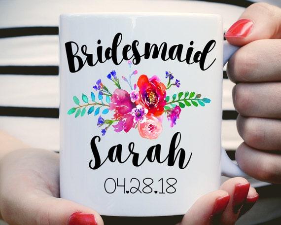 Watercolor Floral Bridesmaid Mug
