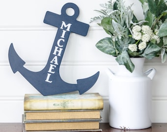 Nautical Baby Shower - Nautical Nursery - Nautical Decor - Personalized Anchor - Baby Shower Gift - Beach Decor - Baby girl- Boy Baby Shower