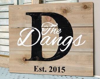 Last Name Established Sign - Pallet Sign - Family Established Wood Signs - Family Established Sign - Last Name Sign - Last Name Wood Signs