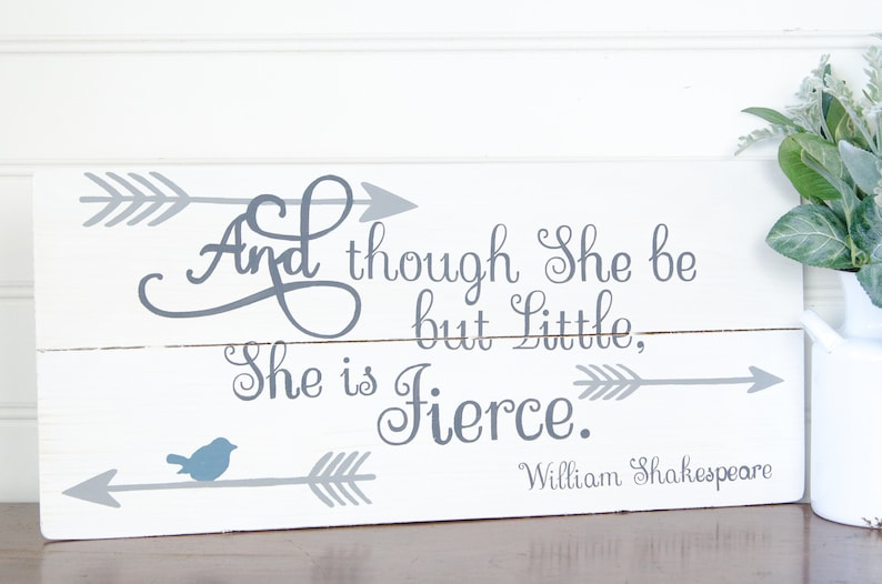 She May Be Little But She Is Fierce Pallet Sign Baby Girl Etsy