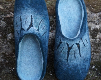Wool slippers/House shoes/Felt shoes/Wool shoes/Felted shoes/Shoes men/Women slippers/Home shoes/Boots/Slippers for home/Mules/Men slippers/