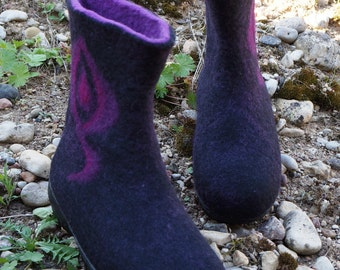 Boots for women/Felted shoes/Women booties/Wool shoes/Handmade shoes/Women shoes/Eco friendly/Boots/Winter shoes/Felted wool/Women boots