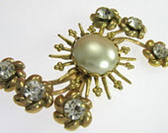 Balinese Jewelry Pure Mabe Pearl Gold Over Sterling Silver Padma Acala Mabe Brooch Balinese Brooch 925 Sterling Silver