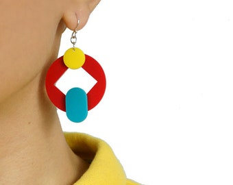 Mix & Match Earrings- Recrec and Diamond
