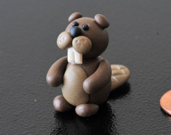 Miniature Polymer Clay Beaver