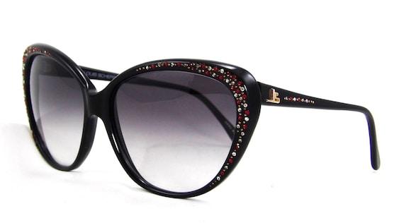 New Jean Louis Scherrer X-Large Vintage Women/'s Cat Eye Sunglasses France 1980s
