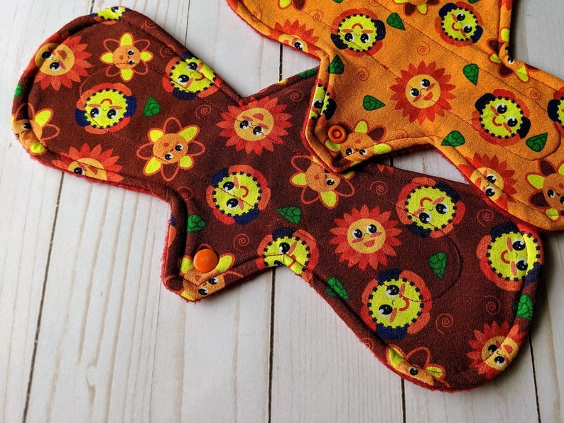 Moderate and Liner Absorbency SummerRed Reusable Menstrual Pad