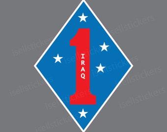 1st Marine Division 1st MARDIV USMC Marine Corps Veteran sticker decal