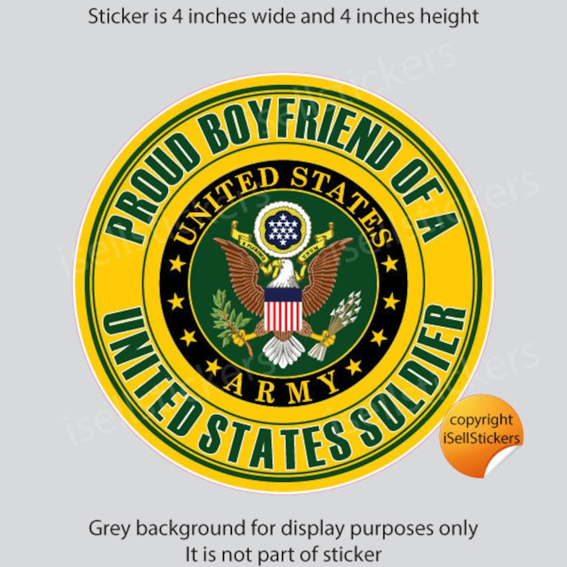 Proud U.S ARMY BROTHER Decal Sticker United States Army soldier military