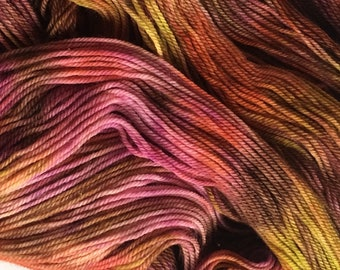 YARN - Hand-dyed SW Merino/Nylon/Tencel (75/15/10) Yarn - Isabella - Tuscany        FREE shipping within United States