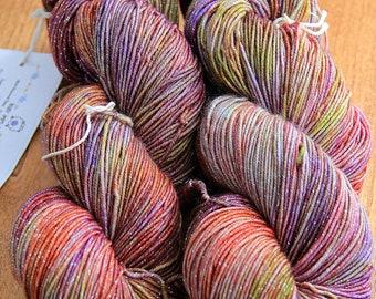 YARN -  SW Merino Wool/Lurex (92/8) Hand Dyed - Dazzle - Harvest       FREE shipping within United States