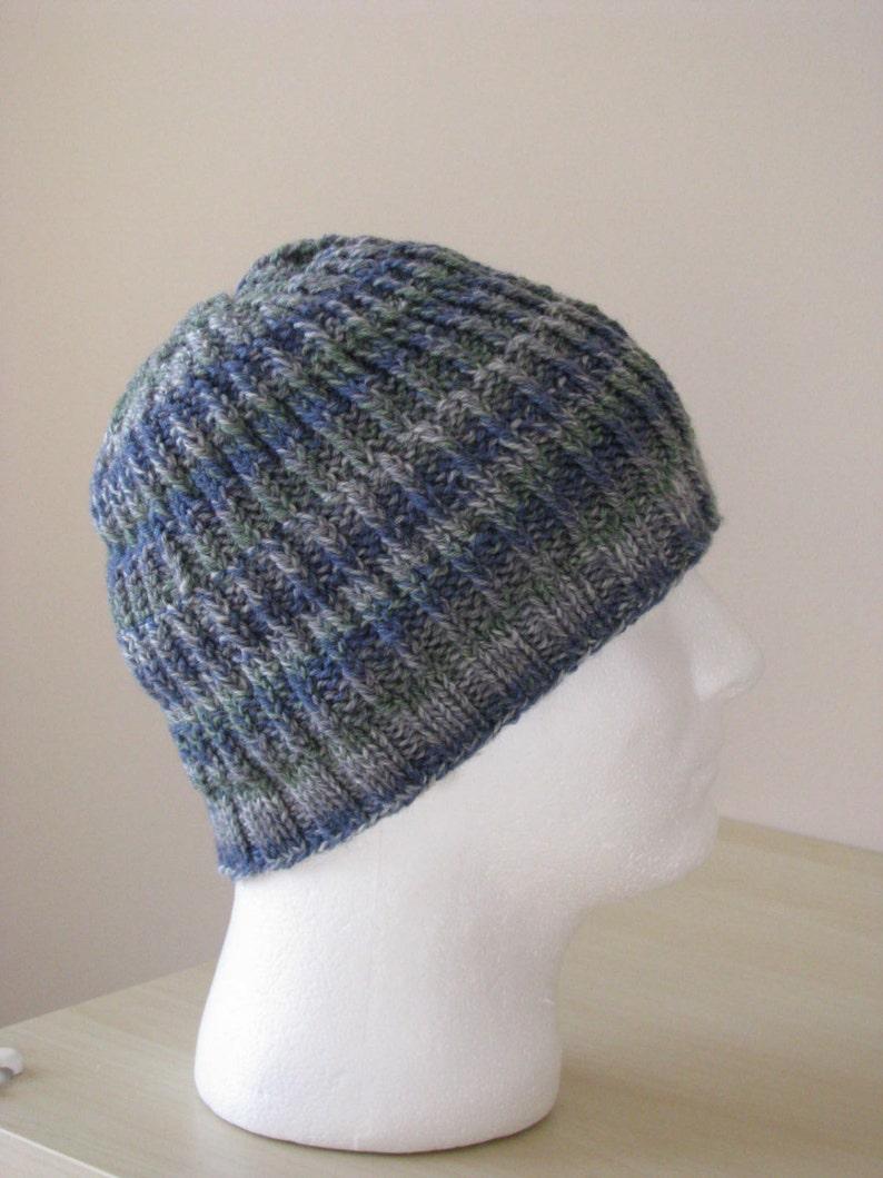 Instant Download Mens Knit Hat Sock Yarn Hat Knitting pattern  a24153a1222