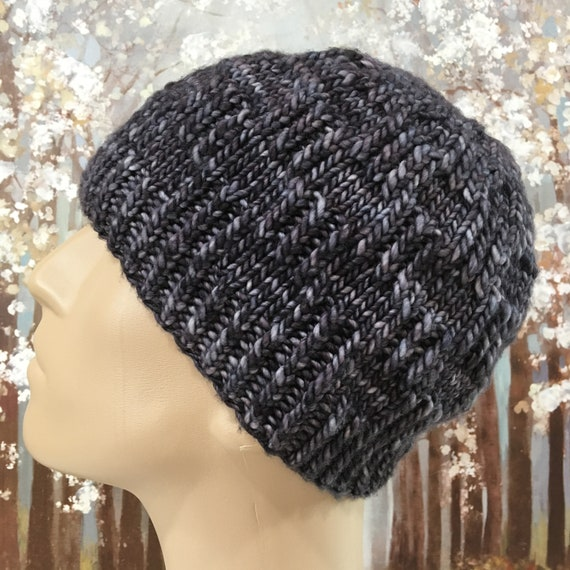 Instant Download Knit Hat Knitting Pattern For Mens Hat Etsy