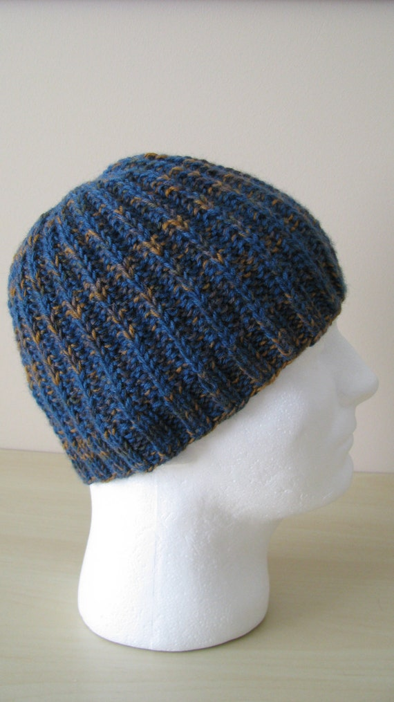 Mens Hat Pattern Ethan Mens Knitted Hat Etsy