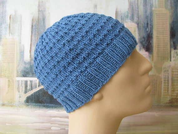 Mens Hat Pattern Chaz Mens Knitted Hat Etsy