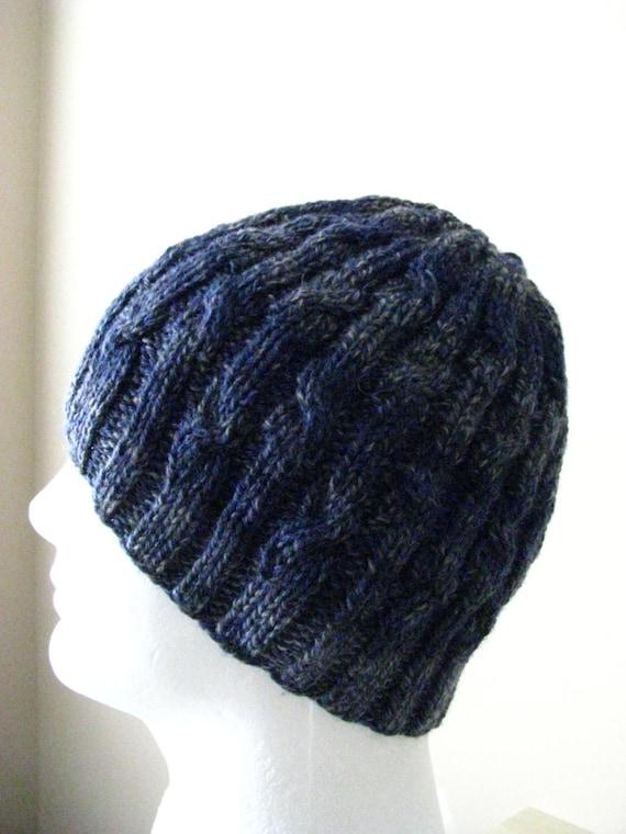Men s Knit Hat Sock Yarn Hat Knitting pattern    4282d250b75