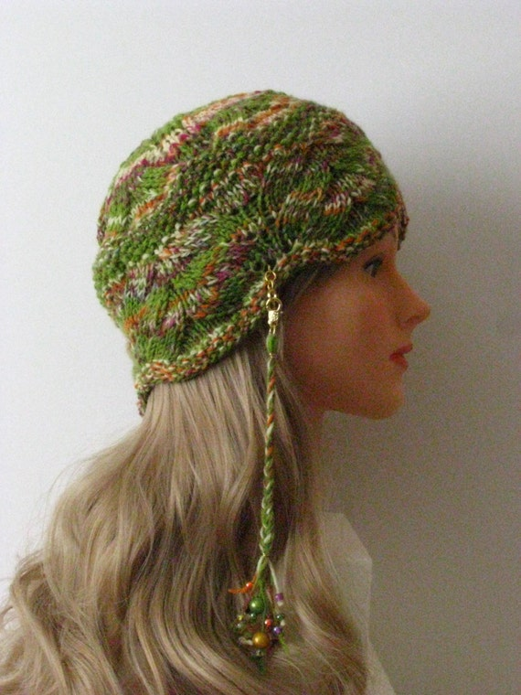 Instant Download Knit Hat Knitting Pattern Hippie Etsy