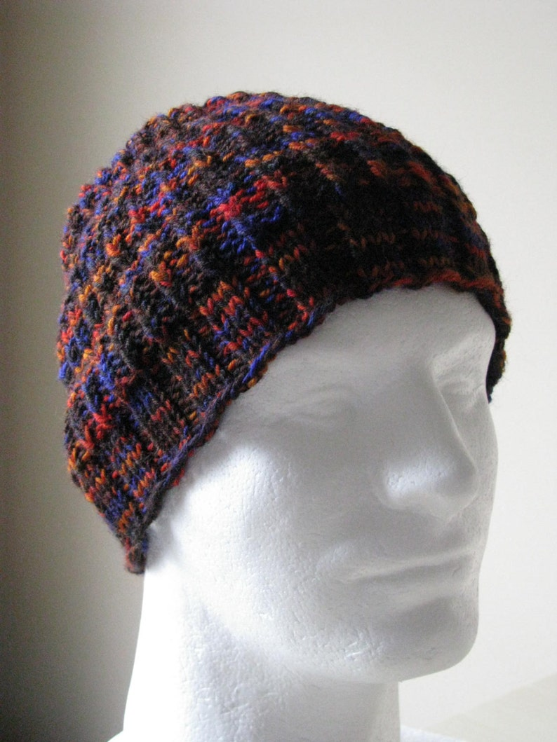 f79ee889f2583 Instant Download Mens Knit Hat Sock Yarn Hat Knitting pattern