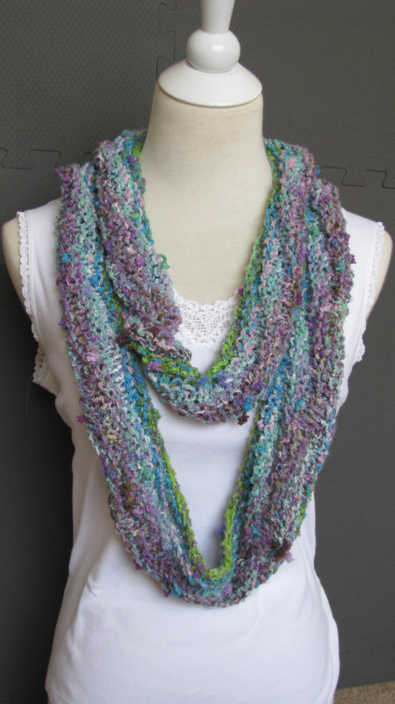Instant Download Knitting Pattern Knitted Scarf Noro Yarn ...