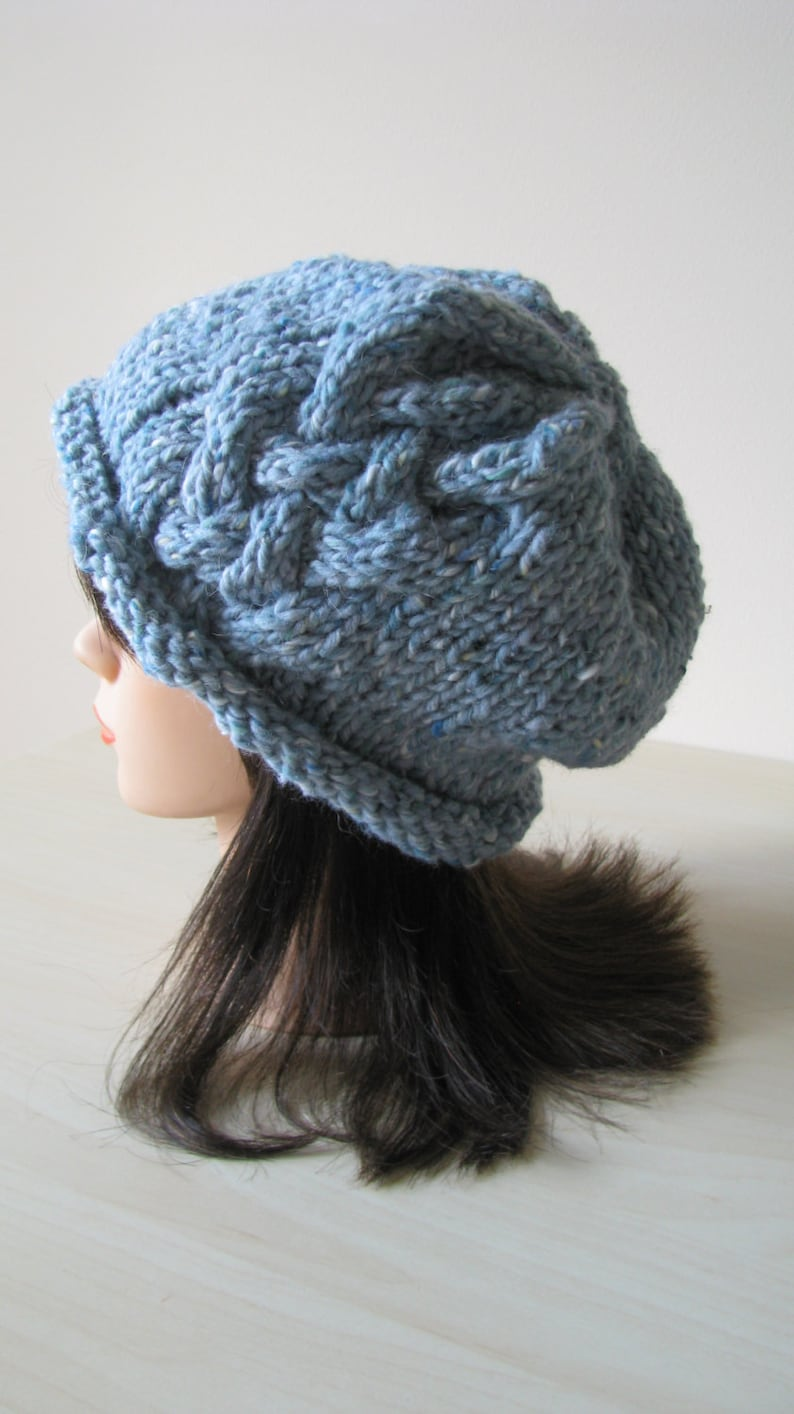 Knitted Hat Knitting Pattern Instant download  c7f0de6ec