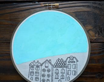 The Home in your Head | mixed media hand embroidery