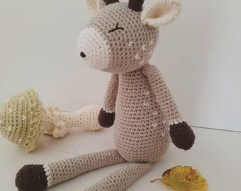 Little Deer - hand-crocheted deer toy - woodland, forest, nursery