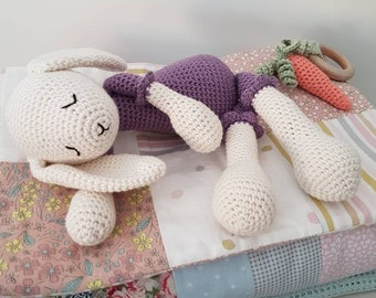 Handcrocheted bunny rabbit toy