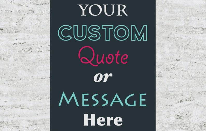 Custom Poster Design Wall Art Print Sign image 0