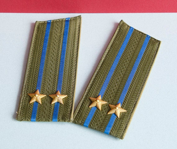Set of 2 Officers Soviet Army Straps - Epaulets Of
