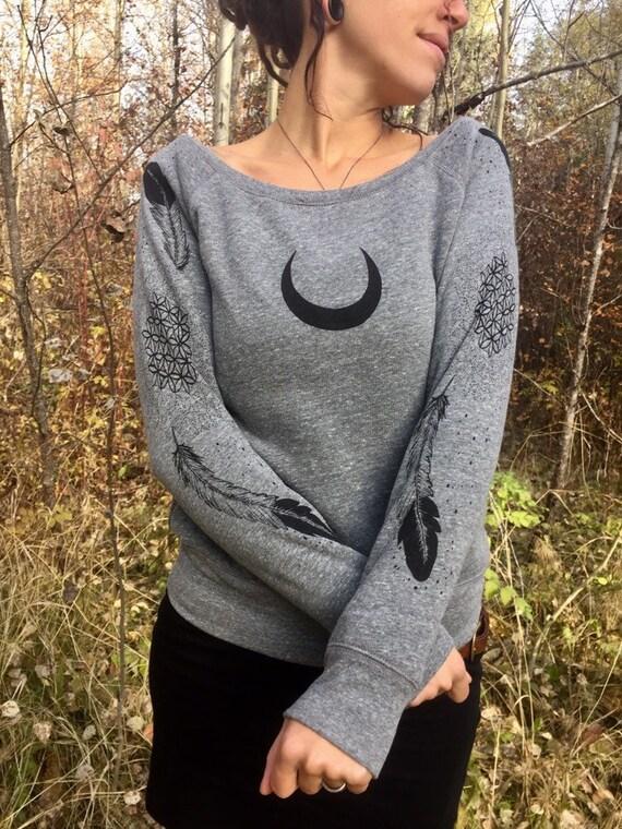 Original Art Raglan Pullover slouchy Longsleeve Sweater GODDESS of Ma/'at print relaxed fit Longsleeve Raglan printed Sweatshirt for Women
