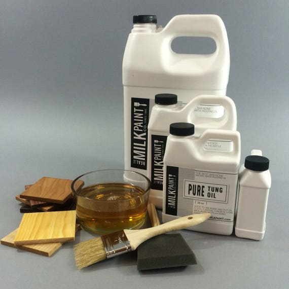 Pure Tung Oil Gallon 128 Fl Oz Wood Finish By The Real Milk Paint Company
