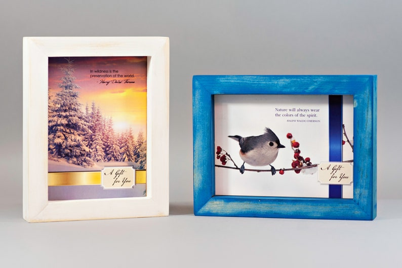 Hand Painted Picture Frame 5x7 Holiday Set