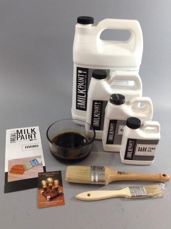 Dark Raw Tung Oil Quart 32 Fl Oz Wood Finish By The Real Milk Paint Company