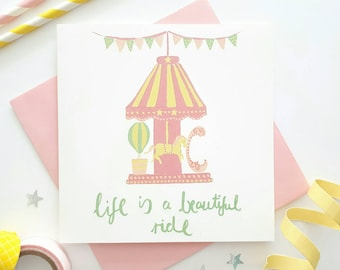 Encouragement card - Good luck card - Hang in there card - Bravery card - You've got this card - Encouraging quote card - Pink