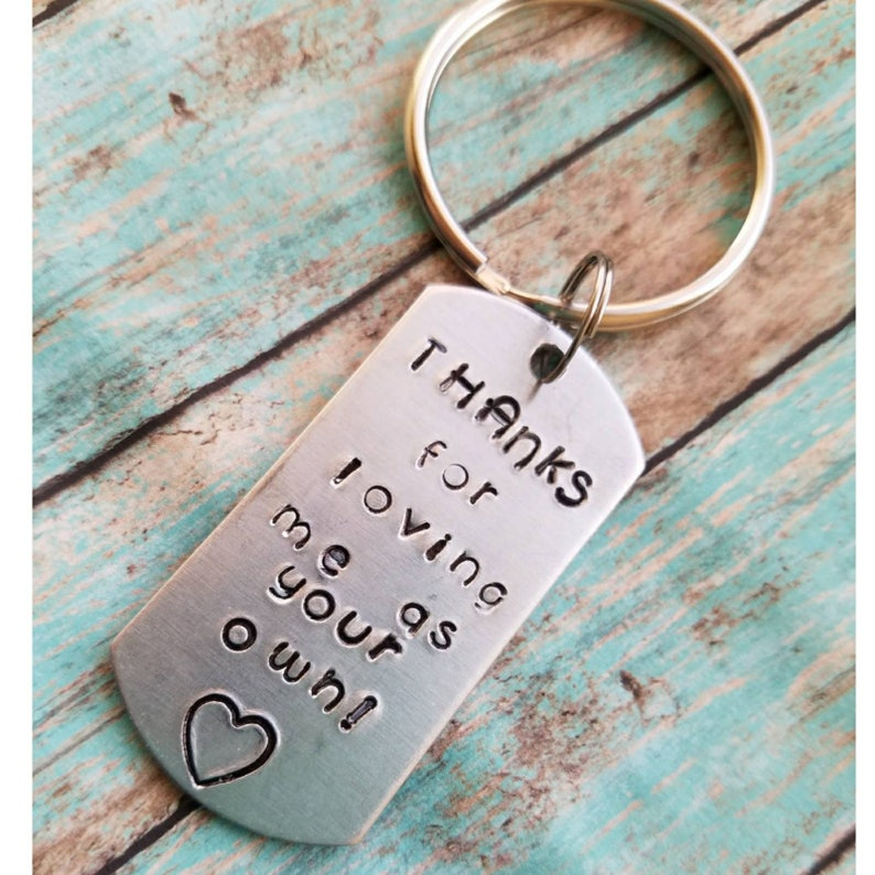 Step Mom Gift Foster Mom Step Parent Keychain Like A Mom To Etsy