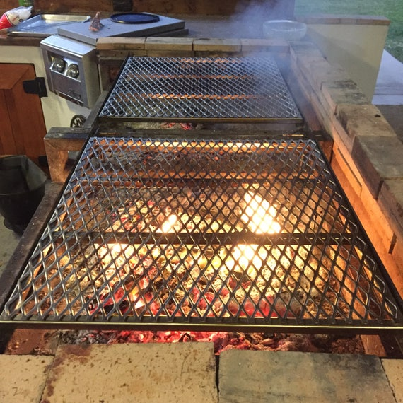 image 0 - Custom Stainless Steel Fire Pit Grate And Replacement BBQ Etsy