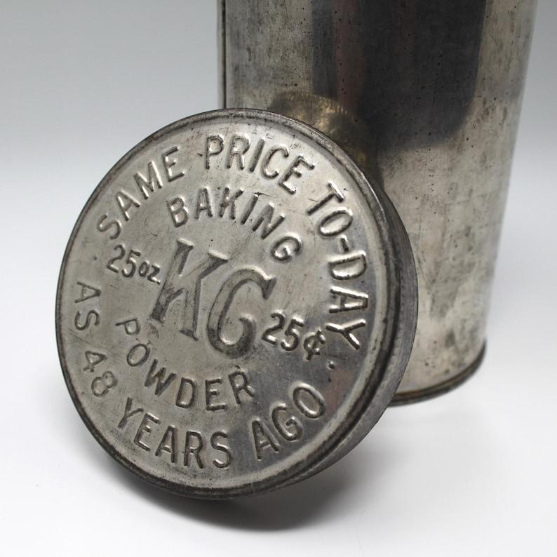 Vintage KG Baking Powder Tin Can
