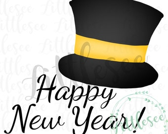happy new year top hat watercolor 2019 watercolor new years eve watercolor digital download printable clipart sublimation artwork