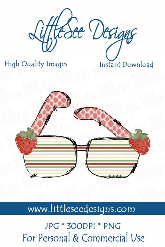image regarding Sunglasses Printable titled Watercolor Strawberry Sungles, Watercolor Summer season Down load, Business Employ the service of, Doodle Sungles, Printable Summer season Artwork, Business Seek the services of