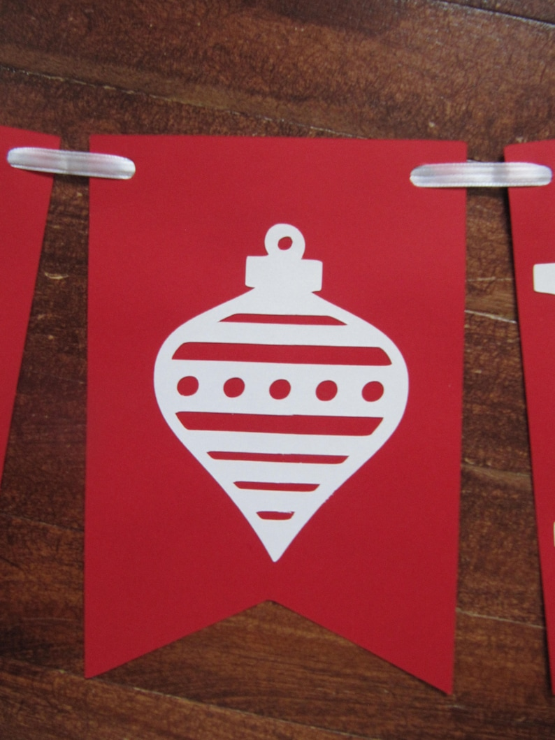 guirlande joyeux noel merry Christmas banner french Christmas decor Joyeux Noel sign